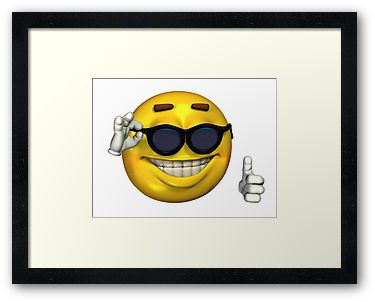 Ironic Meme Smiley Face With Sunglasses