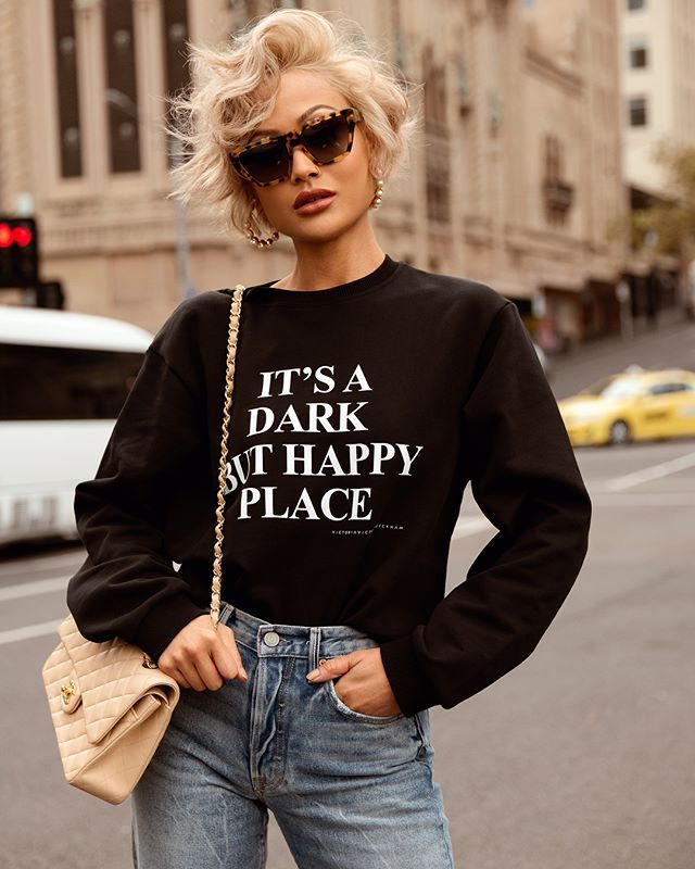 871f0a7ccd ...  VBEyewear Square Cat Sunglasses. The sweatshirt is now available  exclusively online at www.victoriabeckham.com and in store at 36 Dover  Street