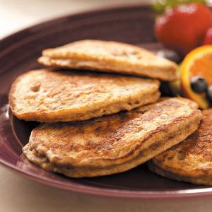 Flaxseed Oatmeal Pancakes Recipe. These are yummy. I would cut back on the milk a little. The batter was too thin and I had to tweak it.