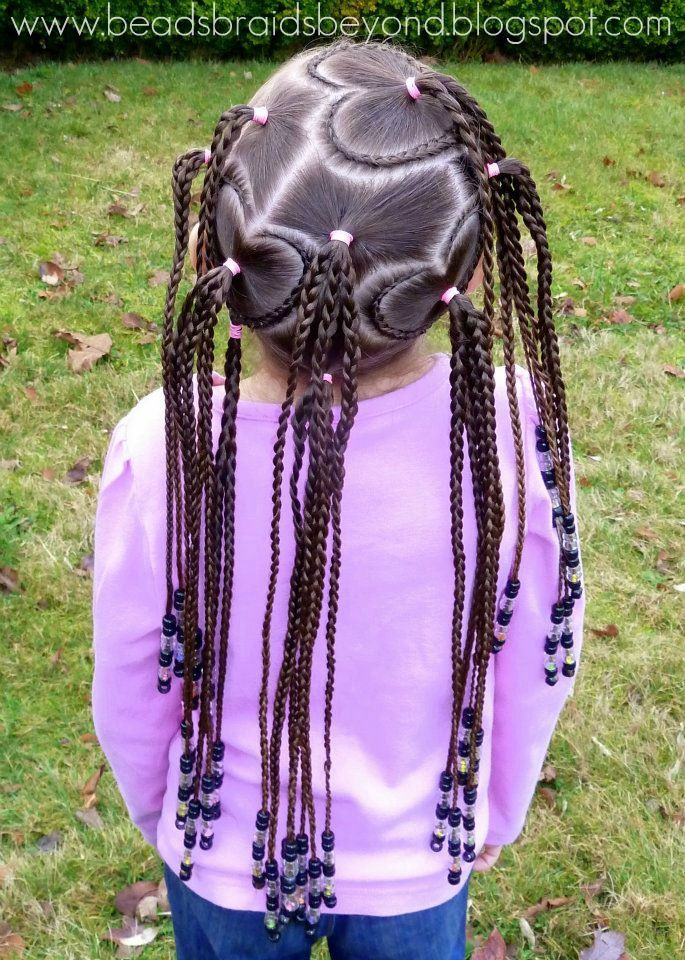 Black Braided Hairstyles For Little Girls With Beads