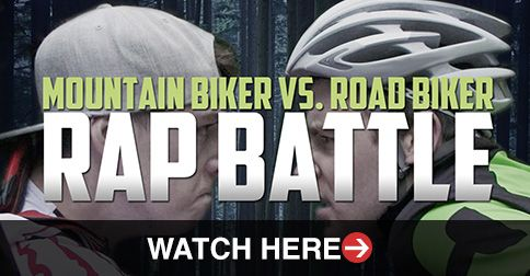 The shaved legged, lycra clad, own the road, never smiling road crew go up against the baggy clothed, backwards cap wearing, too cool for school hipster mountain biker. Find our who wins…WATCH HERE: http://roa.rs/1kRZxLZ