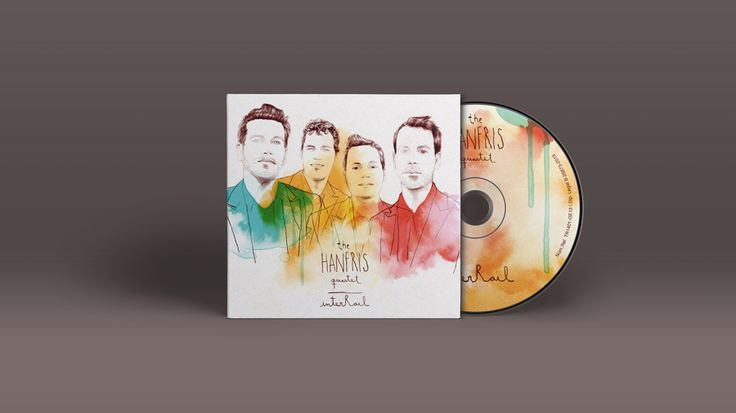 We developed the design for the new album from The Hanfris Quartet, a vocal a cappella group singing barbershop style pieces. The project was done in collaboration with illustrator Conrad Roset.