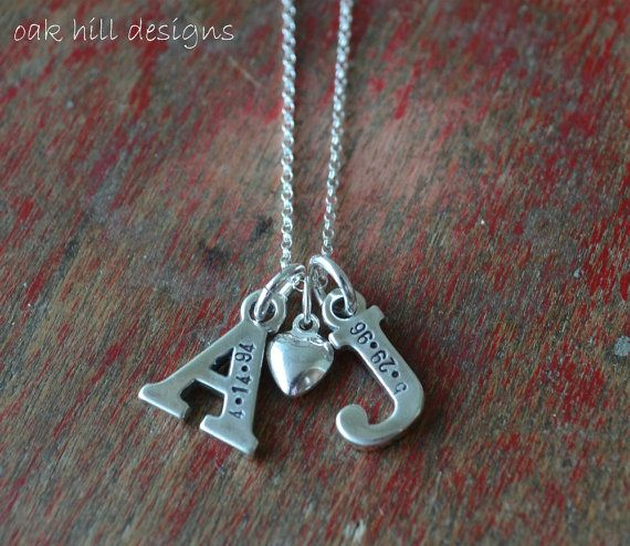 hand stamped necklacecustom personalized by OakHillDesigns on Etsy, $48.00
