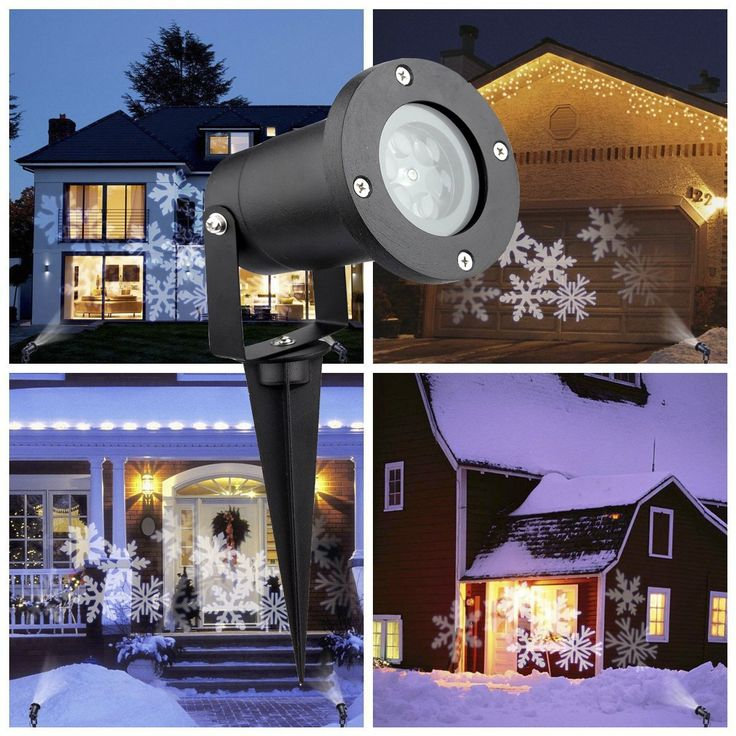 Lovely Christmas Projector Lights Outdoor&Indoor,Waterproof LED White Snowflake Holiday Lights For Christmas Party Plan - Model Of outdoor light projector Simple