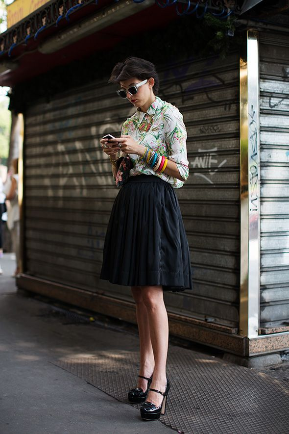 Street style (via On the Street…. via Beltrami, Milano «The Sartorialist)