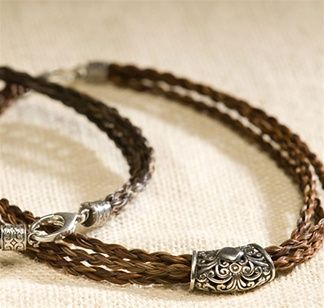 Cowboy Collectibles Horse Hair Three Braided Strands Necklace. Oh i love this! Especially if it were out of my barrel horses hair!