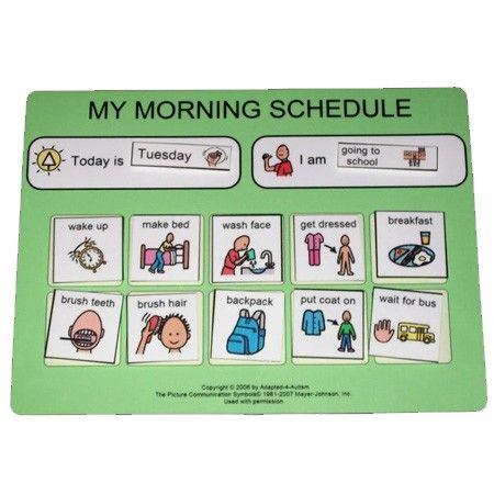 BACK to school PECS Morning Routine Schedule  Abstract/Verbal: Constructs a visual sequence