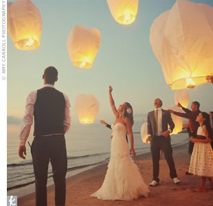 Floating Reception Lanterns inspired by Tangled