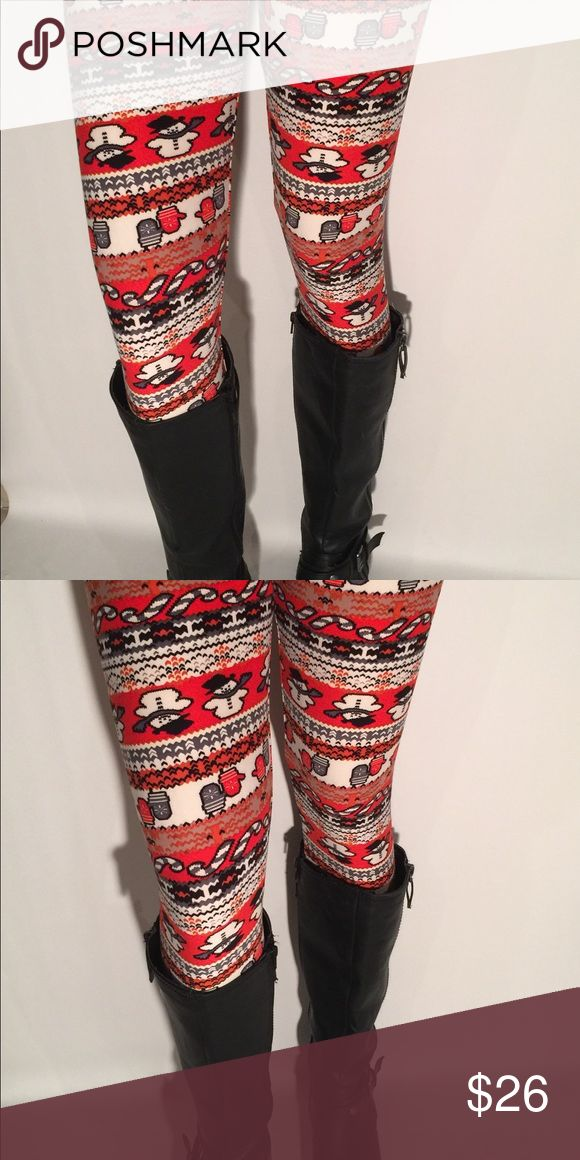 HOLIDAY TC LEGGINGS SOFT AS LLR Fits 12-18, same fabric as LuLaRoe Pants Leggings