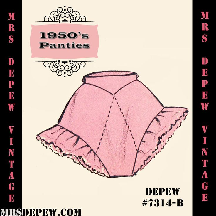 Vintage Lingerie Sewing Pattern 1950's Tap Pants Panties Any Size, PLUS #7314B | eBay