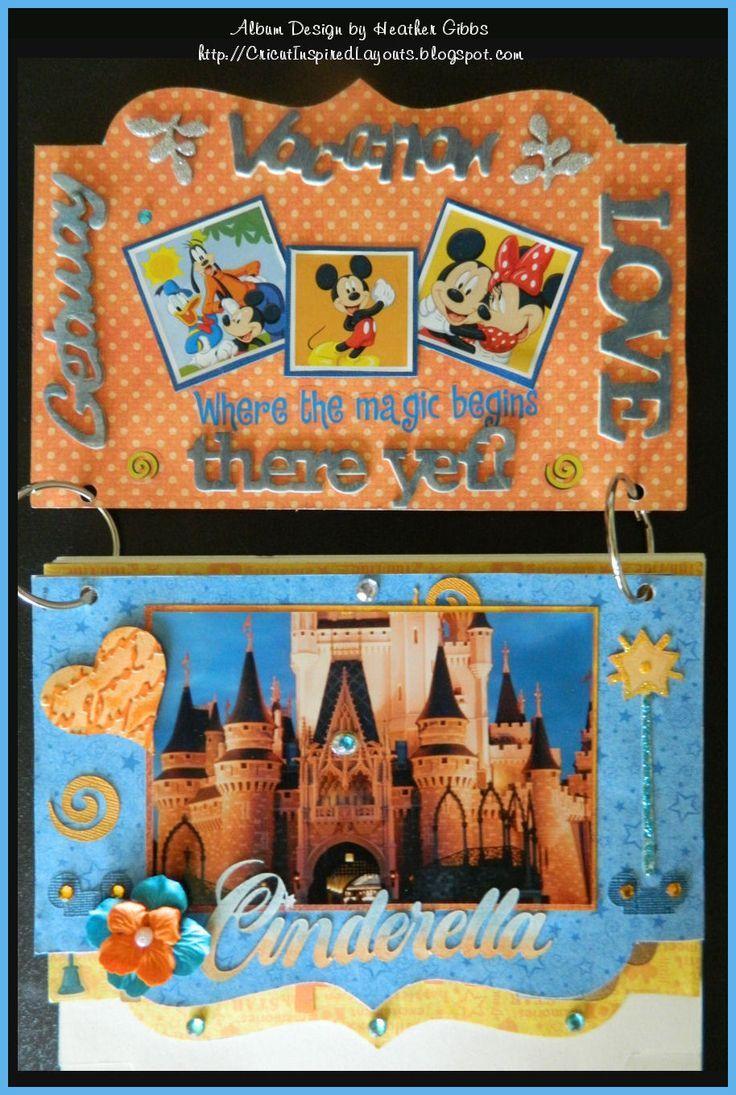 Disney scrapbook ideas - Cricut Inspired Scrapbook Layouts Disney Flip Album Hand Designed Using Cricut S Design Studio