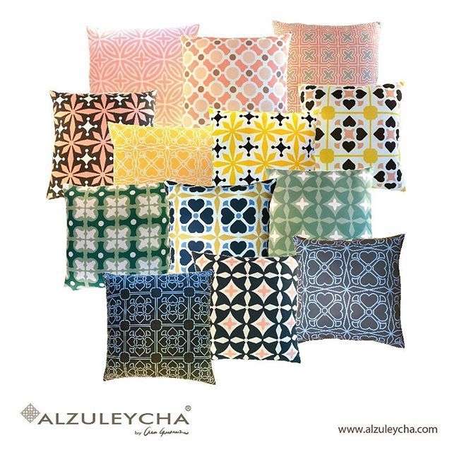 #Alzuleycha new #pillow collection. <<>><<>><<>><<>><<>><<>><<>><<>><<>><<>>  #decoracao #decoratie #decoration #inredning #decor #decoraçãointeriores #dekorasjon #dekoration #dekor #designinteriores #cushions #puder #koddar #kussens #puter #coussins #almofadas #almohadas #kissen #tyynyt #dekorativekissen #patterns #interiordesignideas #decorstyle #dekolovers #designlovers #casachic #glamourinterior