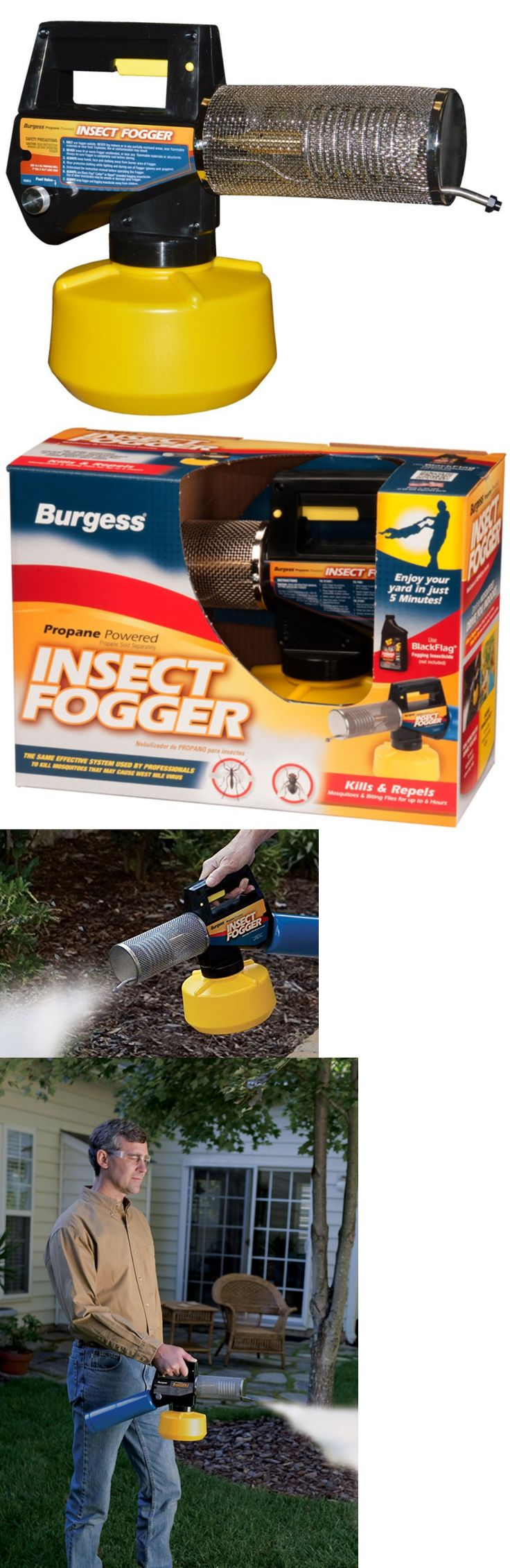 Foggers 181037: Burgess 1443 Propane Insect Fogger For Fast And Effective Mosquito Control In Yo -> BUY IT NOW ONLY: $73.56 on eBay!