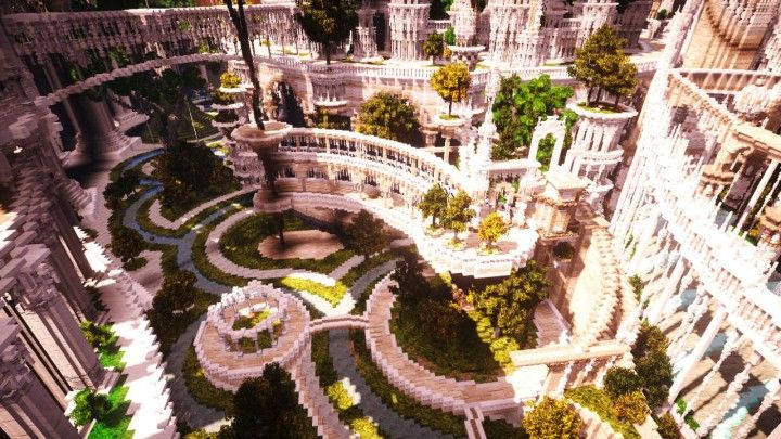 TEMATOS - Invariable utopian palace with the adventure path. Minecraft Project