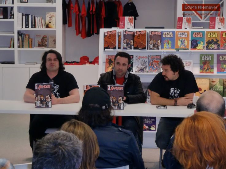 27-03-2014 Gonzalo Martínez, Israel Álvarez y Javier Granda presentan el sexto nº de Zander Magazine