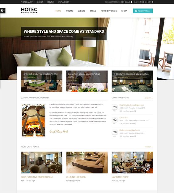 Hotel Calendar Design : Best images about of the wordpress themes for