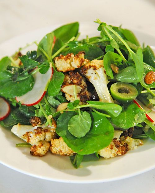 Roasted cauliflower salad.