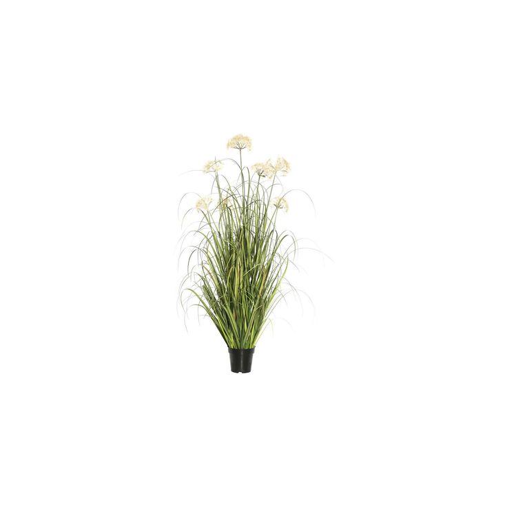 Artificial Grass Plant (48) Green/Cream (Green/Ivory) - Vickerman
