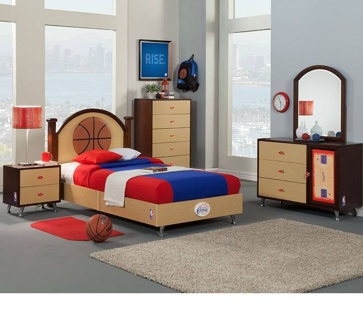 NBA Basketball Los Angeles Clippers Bedroom In A Box Have A Basketball Nut In  The Family? Proclaim Your Team Spirit With This Bedroom Set Made Strictly  For ...