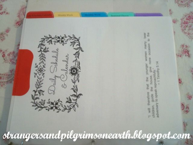 "Strangers & Pilgrims on Earth: ""Keepers at Home"" ~ Home Management Binder Printable"