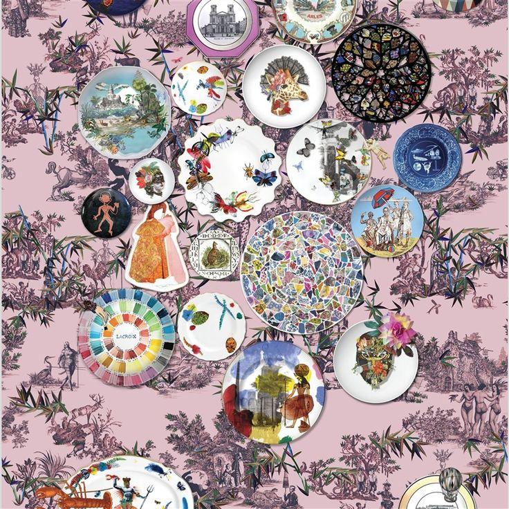 Folie Myrtille Wallpaper | Christian Lacroix