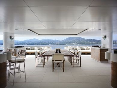 Charter collection complements the sleek look of modern super yachts
