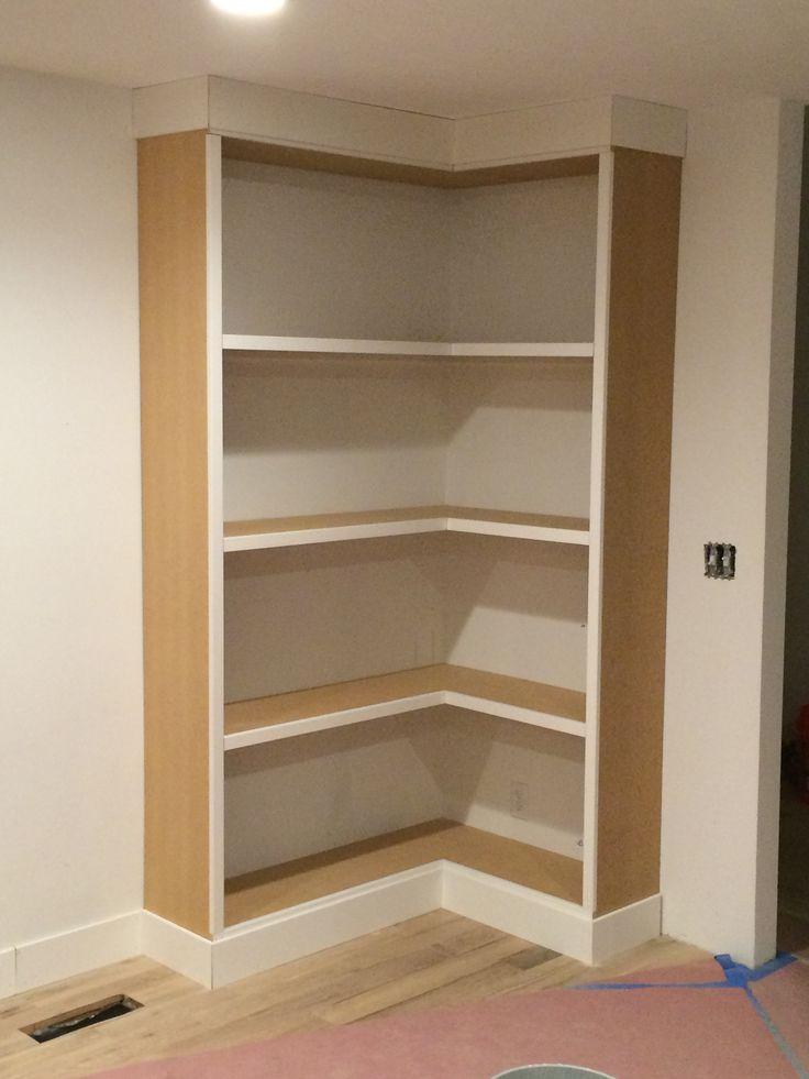 DIY Corner Bookcase