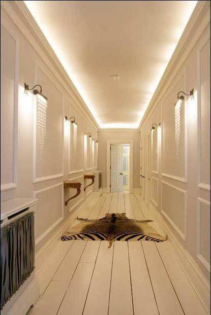 Corridor Design Color: Bright Corridor & Zebra Skin Rug. Gatsby House Hallway