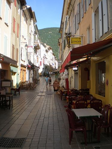 Cafes & Shops, Nyons, Rhone-Alpes, France