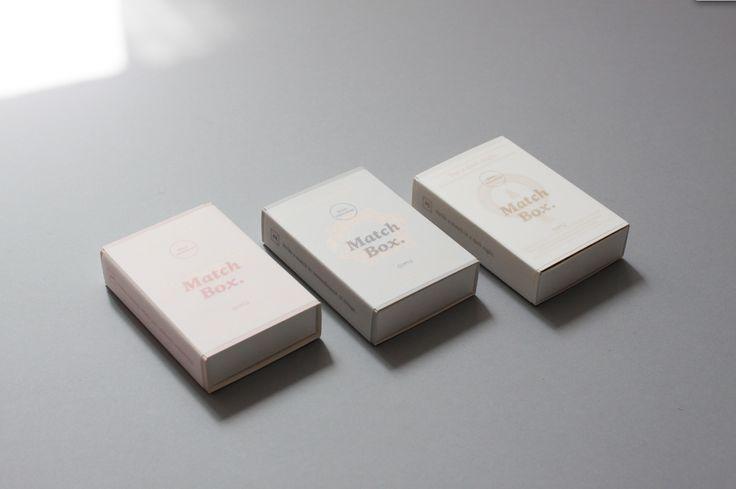 OIMU square matchbox. pale color