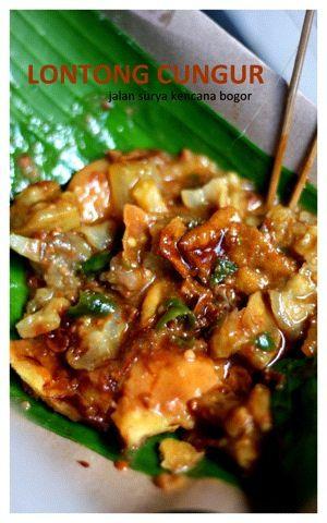 Lontong cungur #Makanan khas #Indonesia