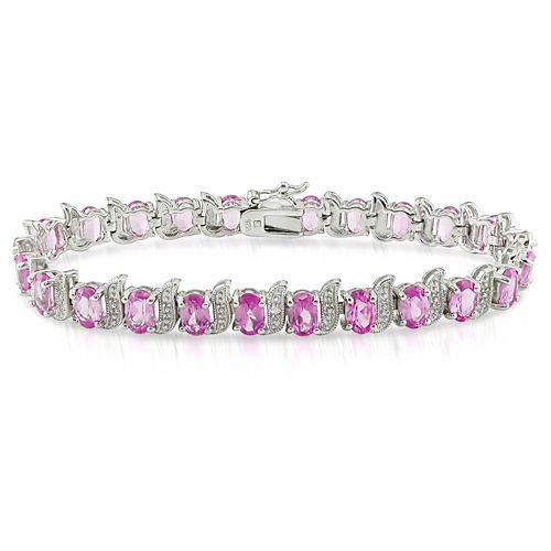 0075007055650_1875CT_TGW_Created_Pink_Sapphire_Silver_Bracelet_Silver_(BDGS50328PS).jpg (500×500)