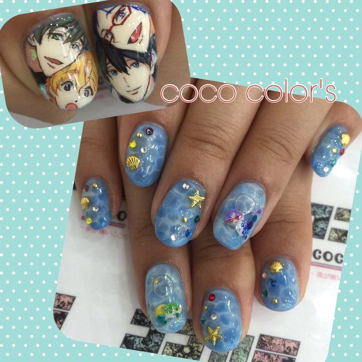Anime nail art Free! Haruka Nanase Rei Ryugazaki Nagisa Hazuki  MakotoTachibana - Best 25+ Anime Nails Ideas On Pinterest Sailor Moon Nails