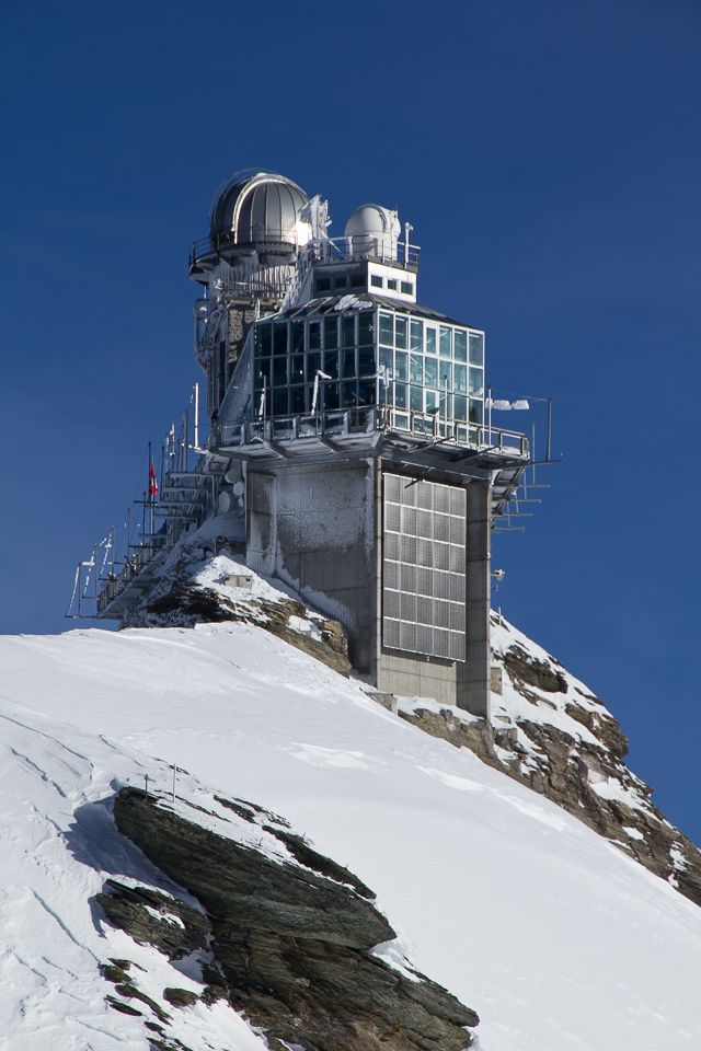 The Top of Europe - Jungfraujoch. Breathtaking views over the glacier from the viewing platform.
