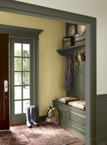 Interior paint ideas and inspiration cameras hallway for Dark sage green paint color