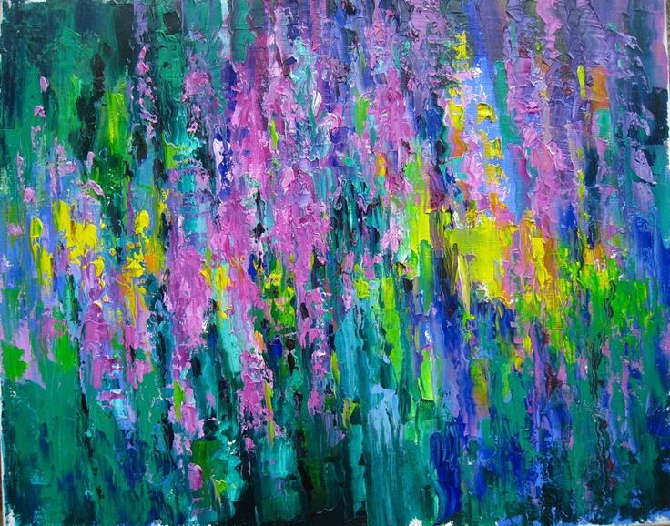 gorgeous abstract floral artwork #FlowerShop