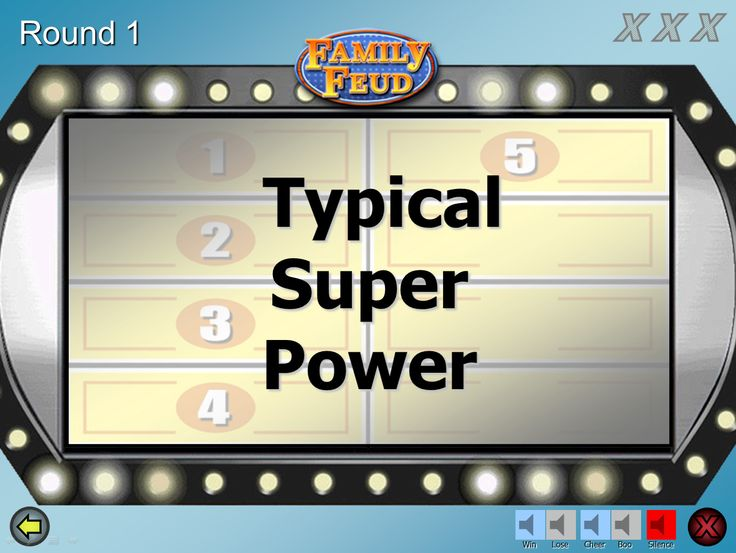 Pinterestu0027teki 25u0027den fazla en iyi Family feud game show fikri - Family Feud Power Point Template