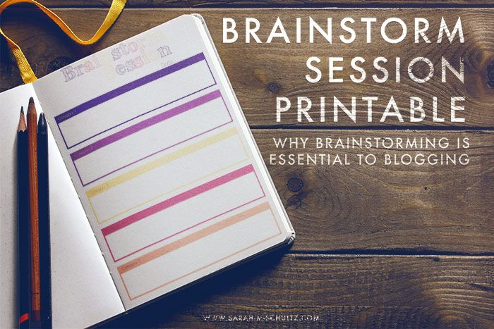 Brainstorming is Essential to Blogging. This [free] worksheet will help you take your brainstorming sessions to the next level. #blogging #contentcreation
