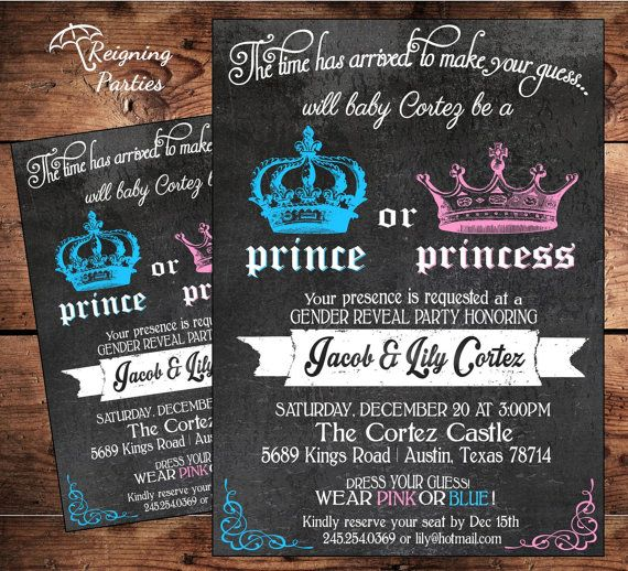 20+ best ideas about gender reveal party invitations on pinterest, Baby shower invitations