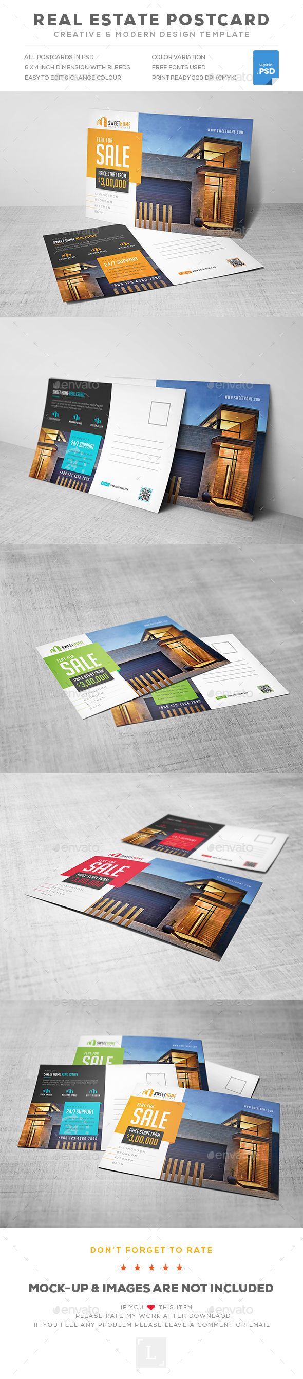 Real Estate Postcard Template PSD