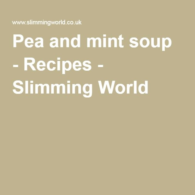 Pea and mint soup - Recipes - Slimming World