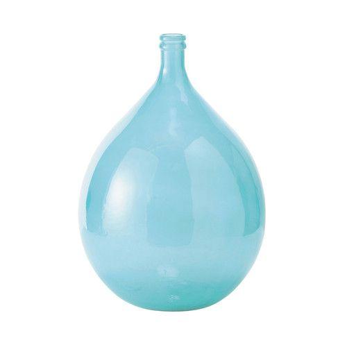 Vase Dame-Jeanne en verre bleu SKADI   Maisons du Monde