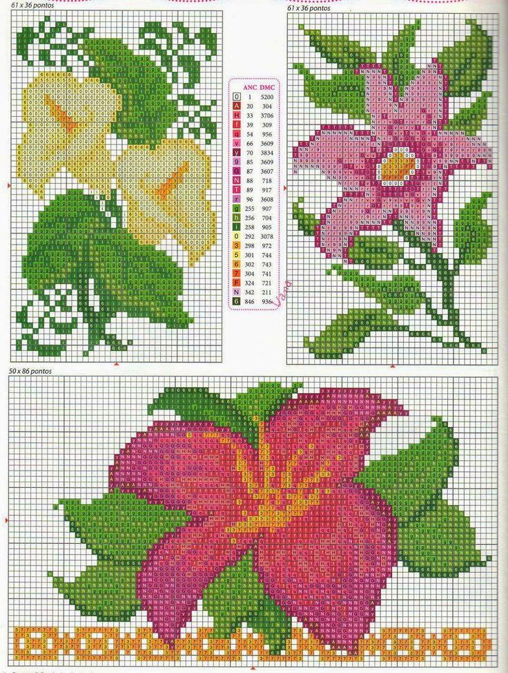 74 best images about punto de cruz flores on pinterest - Muestras y motivos punto de cruz ...