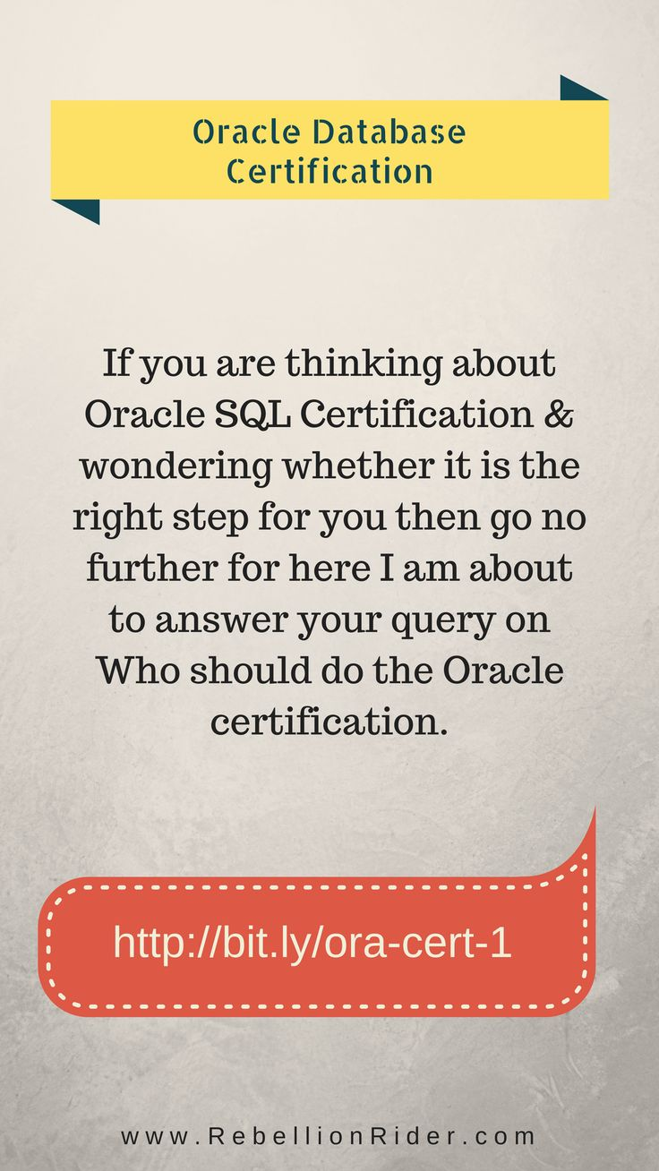 Best 25 oracle sql ideas on pinterest coding for beginners sql who should do the oracle certification if you are thinking about oracle sql certification wondering whether it is the right step for you then go no xflitez Gallery