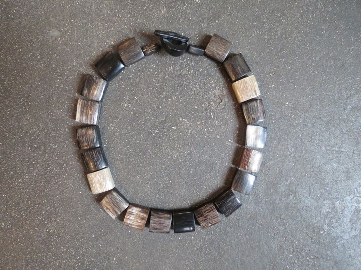 Handmade necklace from buffalo horn at Kim Sacks Gallery Johannesburg