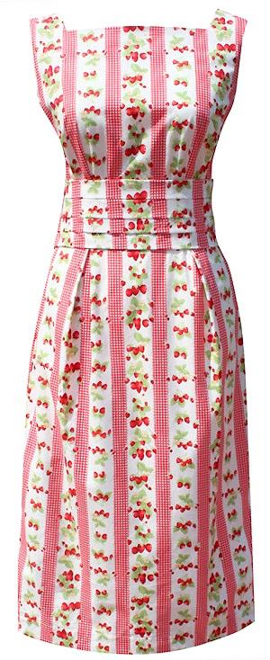 Dollydagger Strawberry Picnic Bustle Dress