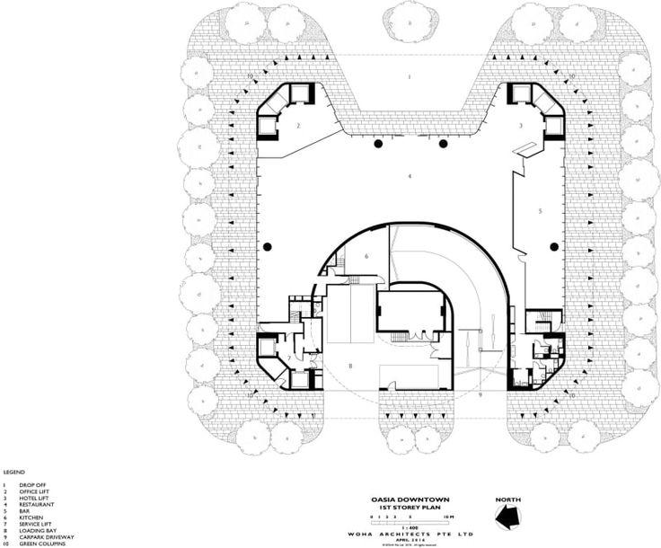 Woha Design, K.Kopter, Patrick Bingham-Hall · Oasia Hotel Downtown