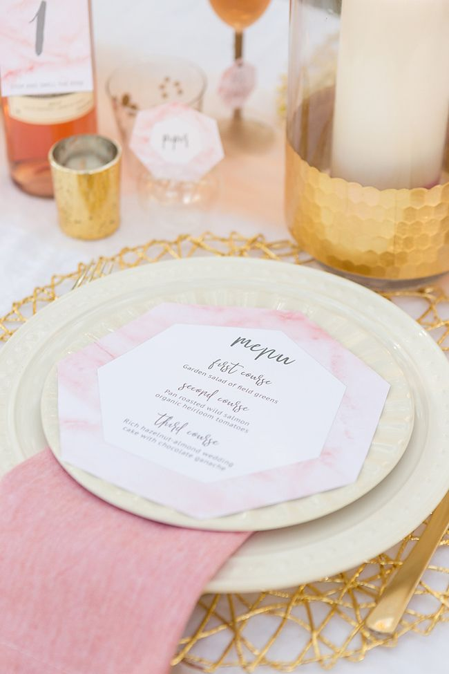 printable wedding place cards vintage%0A DIY This Pink Marble Wedding Inspiration With Cricut