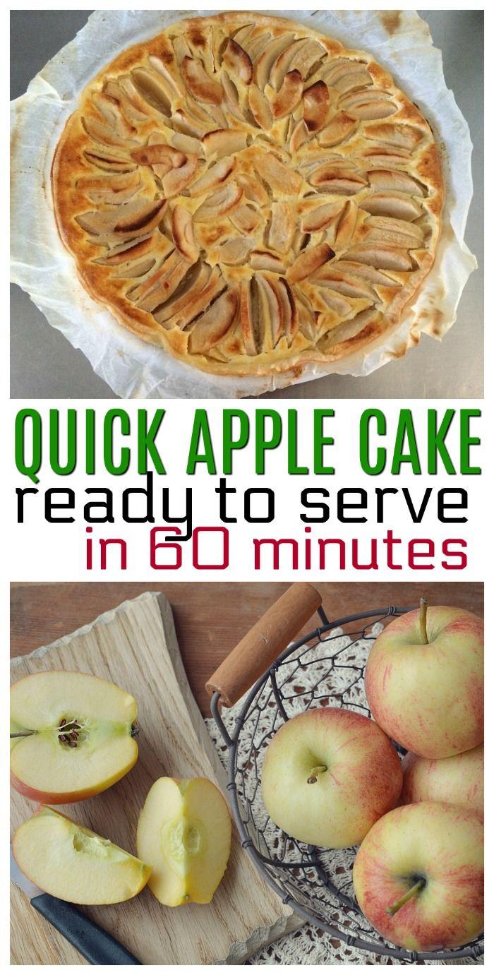Quick Apple Cake Recipe for Unexpected Company via @ellenblogs