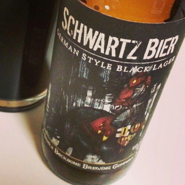 Schwartz Bier, a German style black lager, by Devil's Backbone